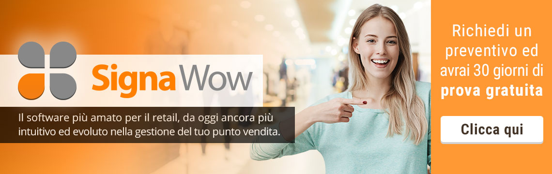 Signa Wow software completo per negozi